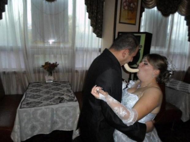 komik evlilik fotoğrafları