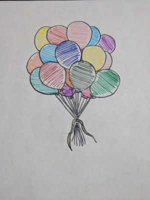 easy cool drawing try beginners balloons hippy buzz drawings source air draw balloon diy flower uploaded user