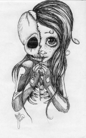 cool drawings easy drawing skull try fairy draws awesome babydeer creepy deviantart beginners simple dibujos rysunek swag invisible skulls random