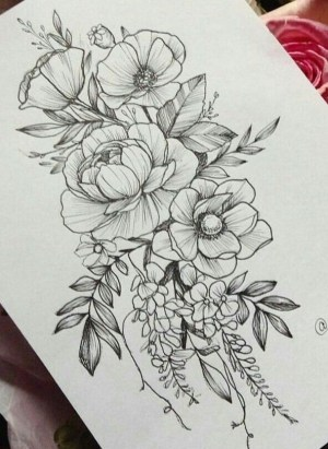 pencil drawings easy inspiration flowers flower drawing tulip hippy buzz
