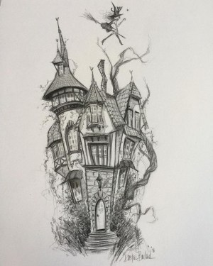 pencil easy sketches drawing draw drawings haunted witch sketch 18x12 halloween projects seatrend architectural info dustin bailard