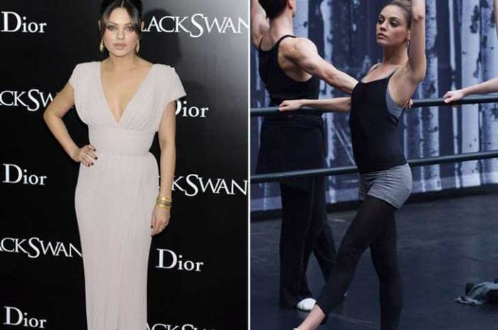 While Mila Kunis lost 15lbs for her role in the movie