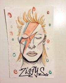 David Bowie était une légende dans le monde musical. Il vient de passer à la postérité (Crédit: Twitter/@erindewitt).