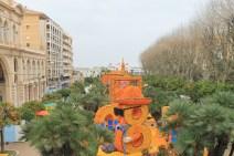 Depuis 1936 dans les jardins Biovès, et cette année encore, les visiteurs ont pu admirer les sculptures en agrumes. Près 15 tonnes de citrons et d'oranges sont utilisées pour des motifs à couper le souffle. (Crédit photo : Maxime Bonnet)