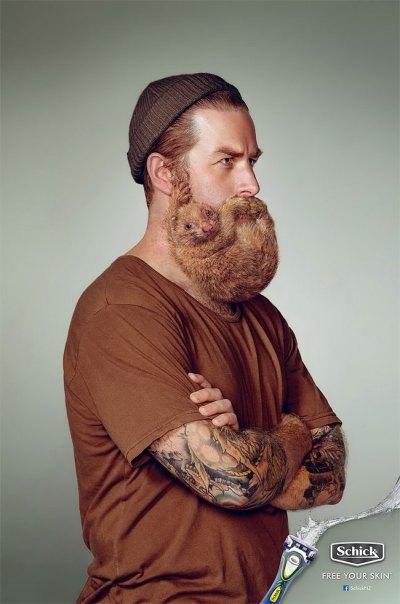 どこかが変な髭剃りの広告 (1)