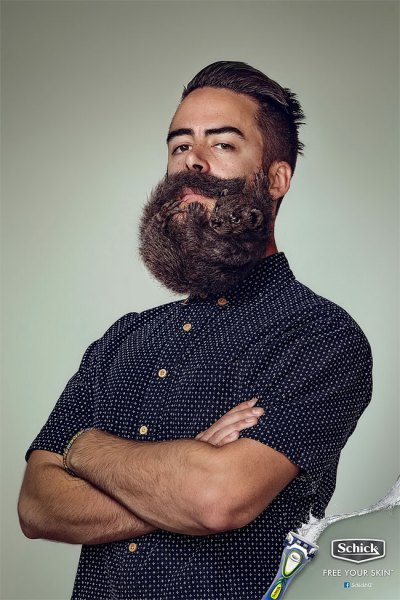 どこかが変な髭剃りの広告 (2)