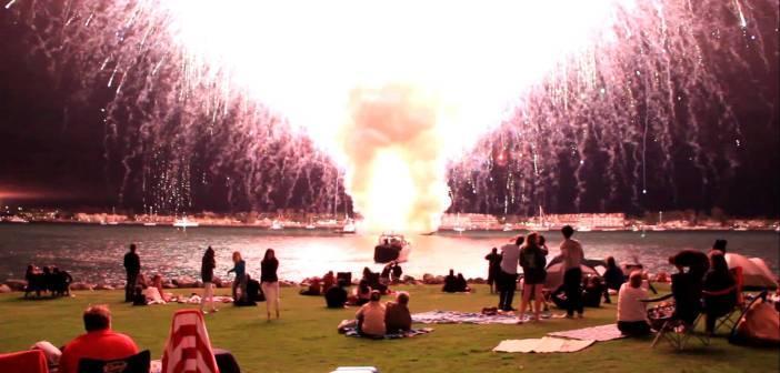 17分で打ち上げる予定の花火が15秒で打ち上がるとこうなる