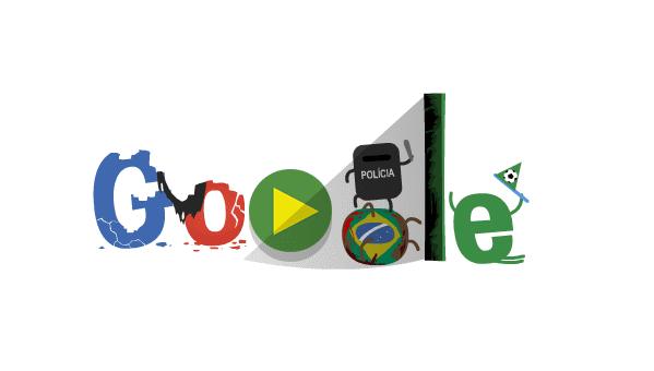 ワールドカップ仕様のGoogle風ロゴ