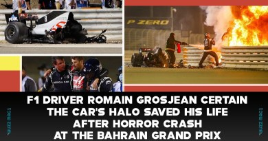F1 driver Romain Grosjean certain the car's halo saved his life after a horror crash at the Bahrain Grand Prix