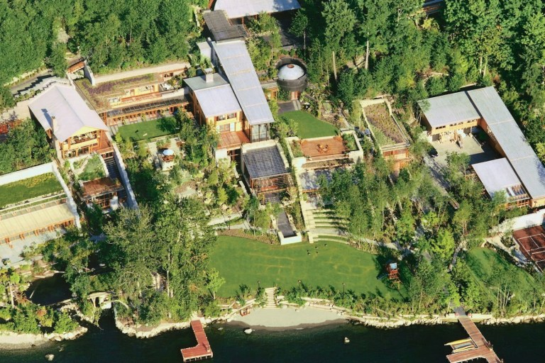 Bill gate's House Most expensive celebrity houses