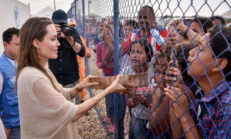 kindest charity angelina jolie volunteer foundation organizations un nicest humble sharing giving
