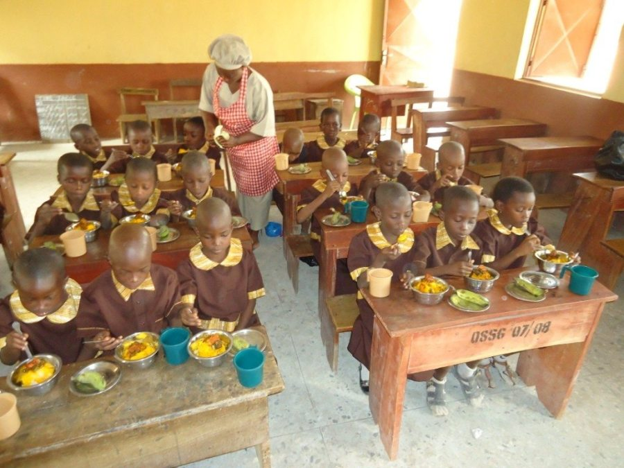 Image result for nigerian school children eating