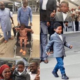 Ali Ahmadu: Injured Chibok Boy Returns To Nigeria After Successful Surgery