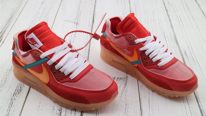 """Off White x Air Max 90 """"University Red"""" Releasing this"""