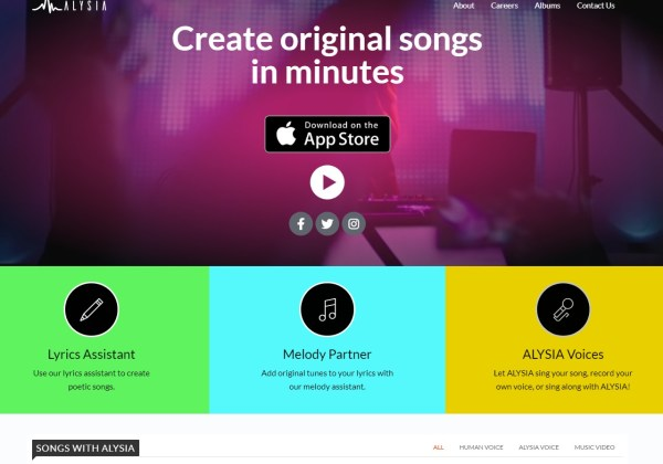 ALYSIA - Create Original Songs in Minutes
