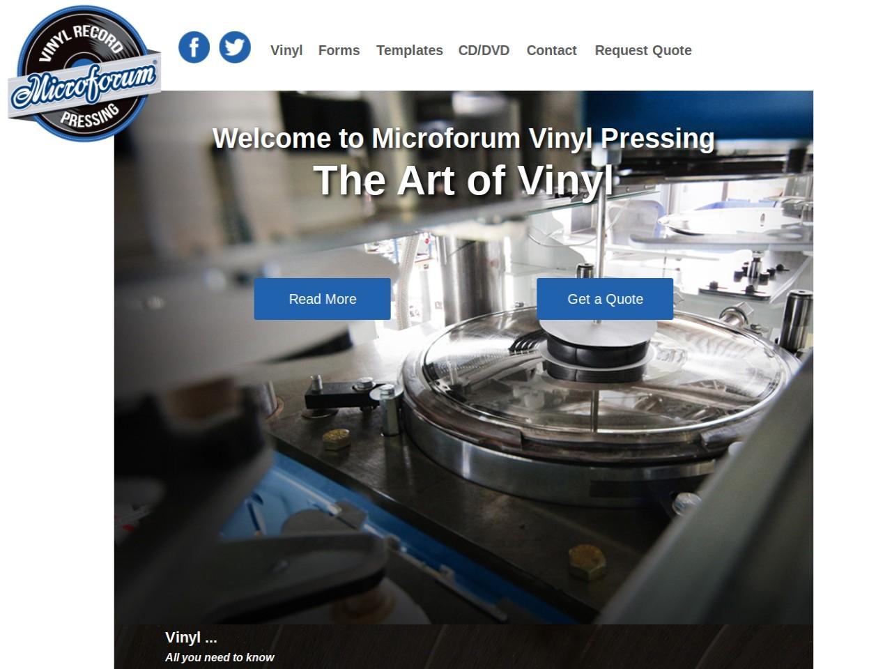 Microforum Vinyl Record Pressing