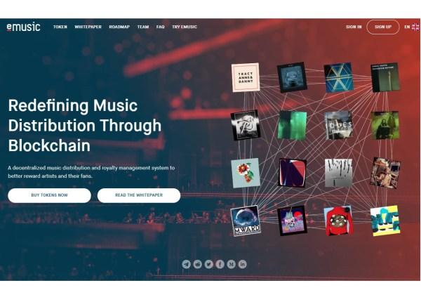 eMusic Blockchain Music Platform