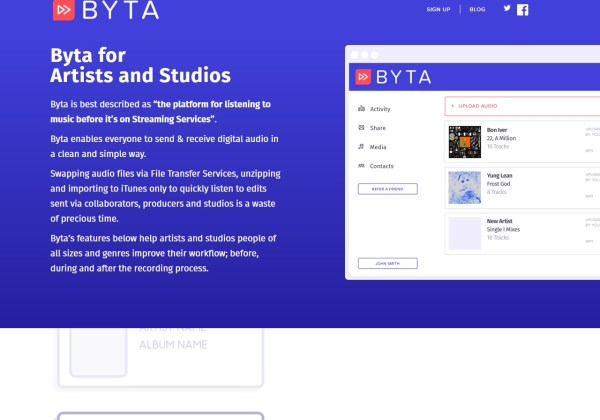 Byta - The platform for music before it's on Streaming Services