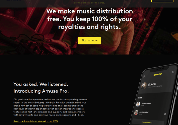 Independent Record Label Music Distribution Amuse