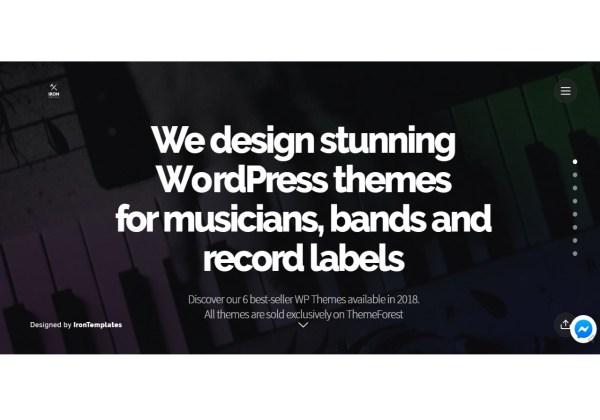 IronTemplates 6 Stunning Music WordPress Themes