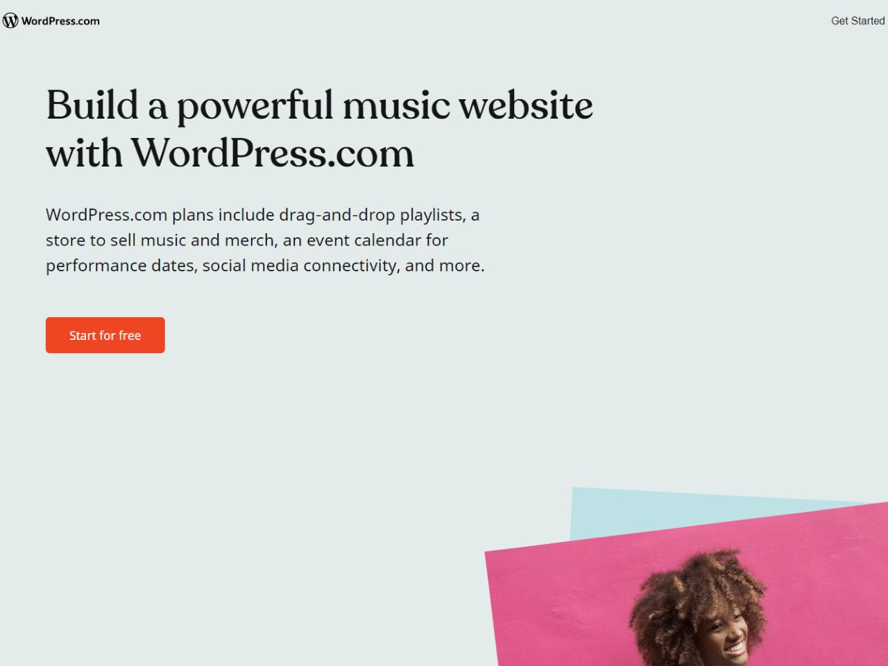 Music Website Builder — WordPress com