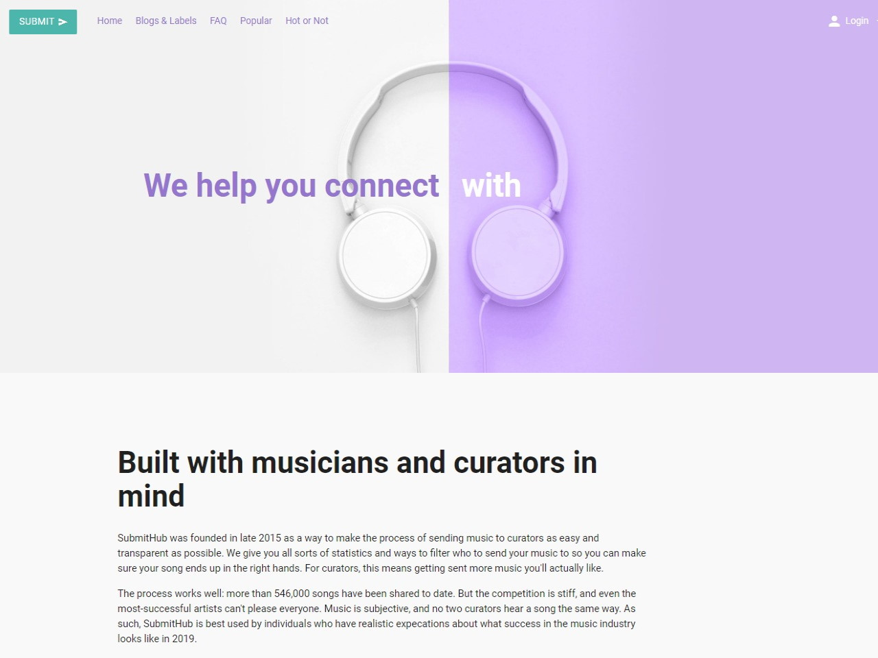 Submit Music to Blogs Playlists amp Labels SubmitHub