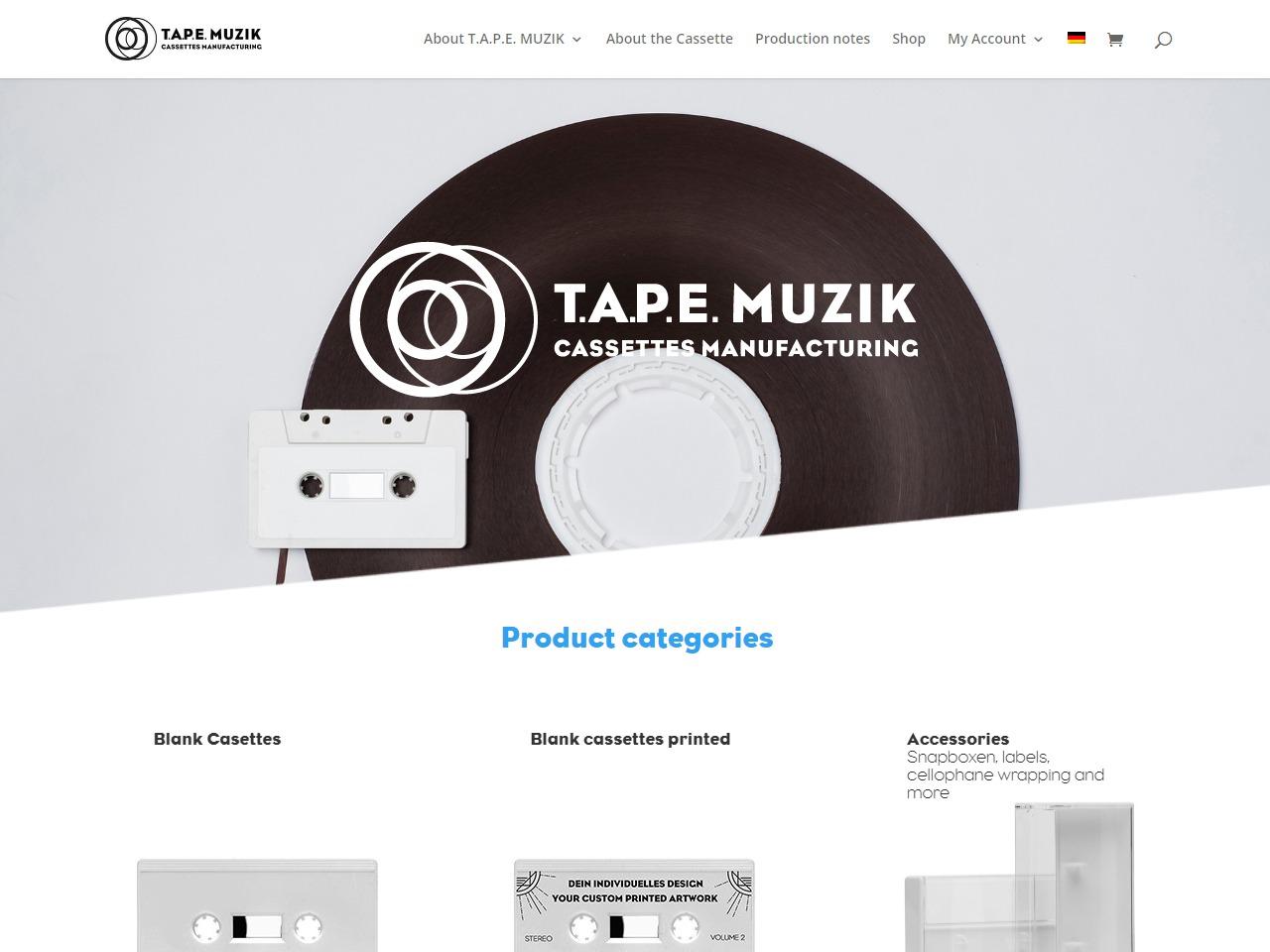 T A P E MUZIK - Shop - Custom-Made Cassette Tapes and Accessories