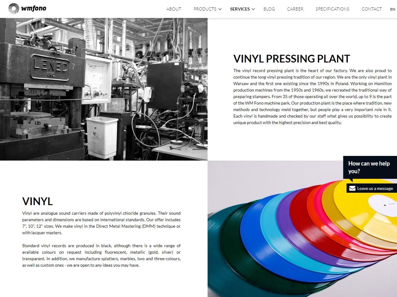 wmfono poland vinyl pressing