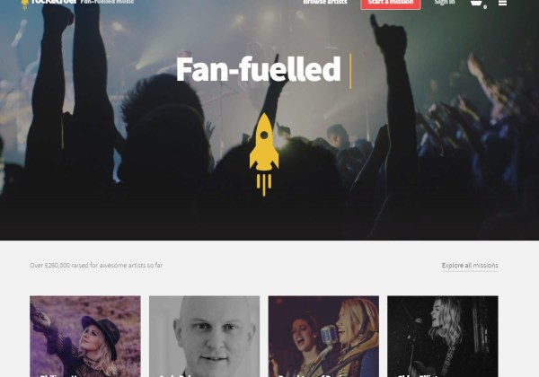 Fan-funding for musicians – Rocket Fuel