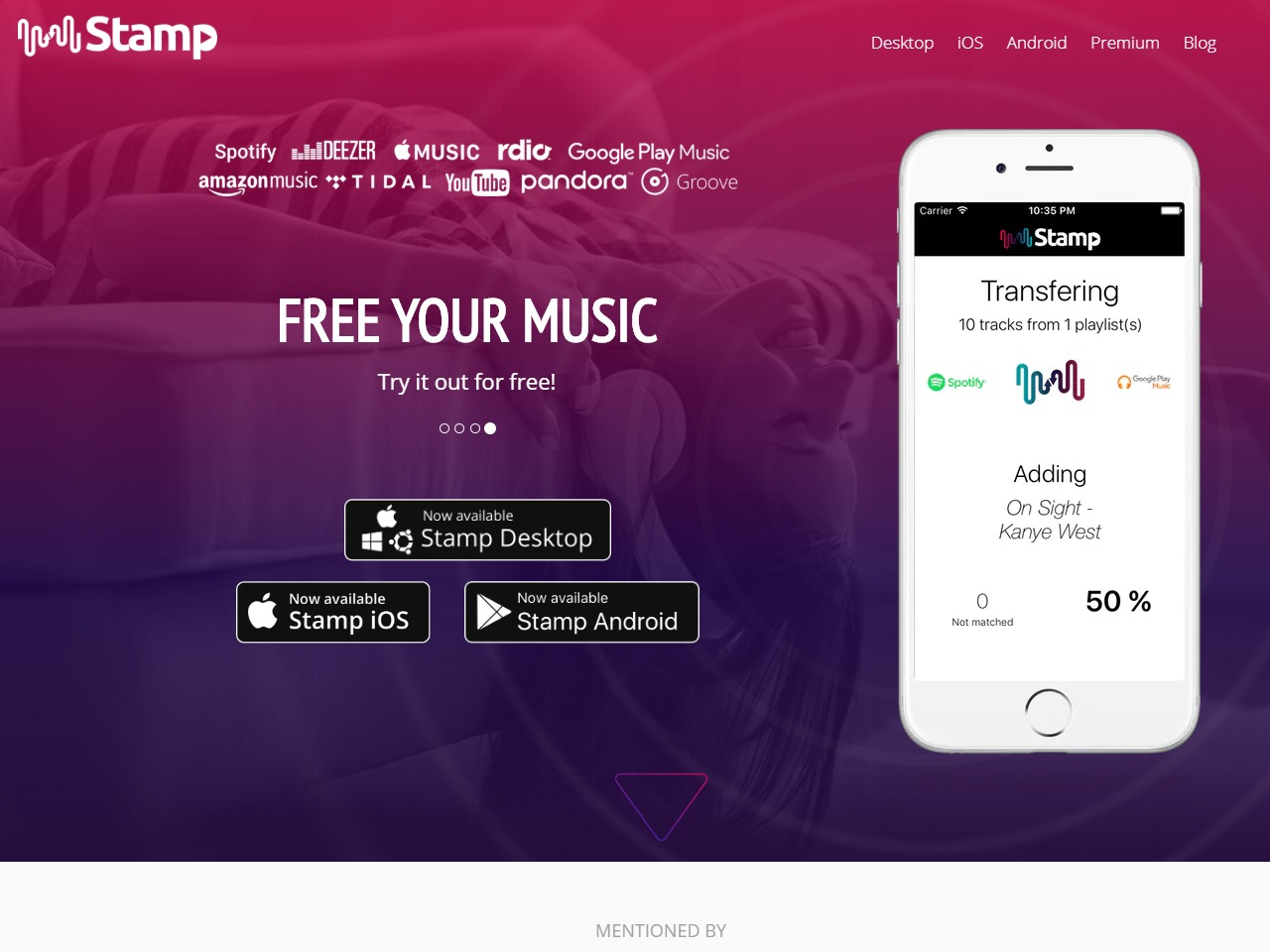 STAMP - Move to Apple Music Spotify Google Music
