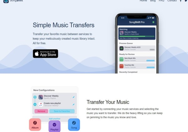 songshift playlist transfer app for iOS