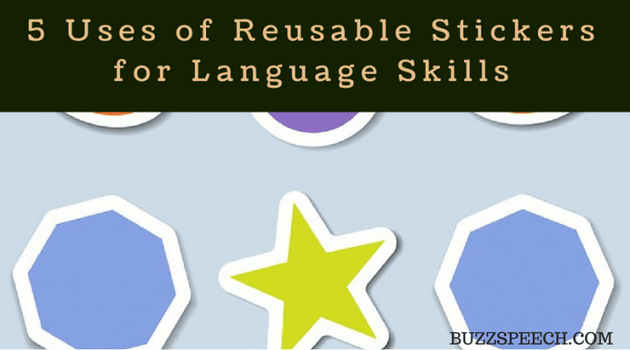 reusable sticker pad for language development