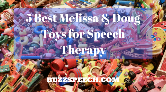 5 Best Melissa & Doug Toys for Speech Therapy