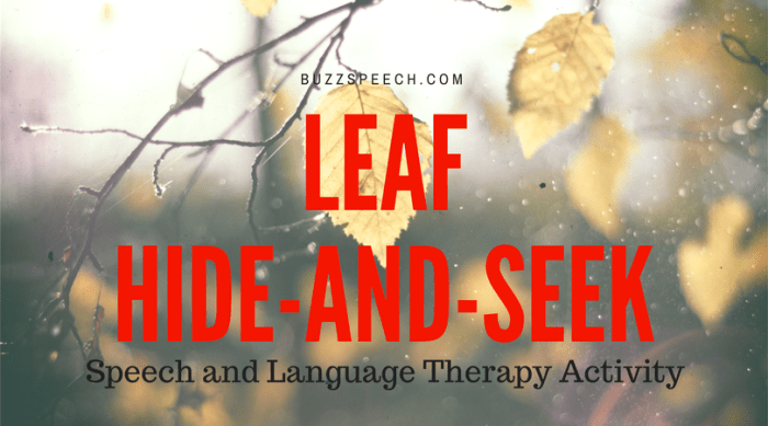 Fall Speech Therapy Activity