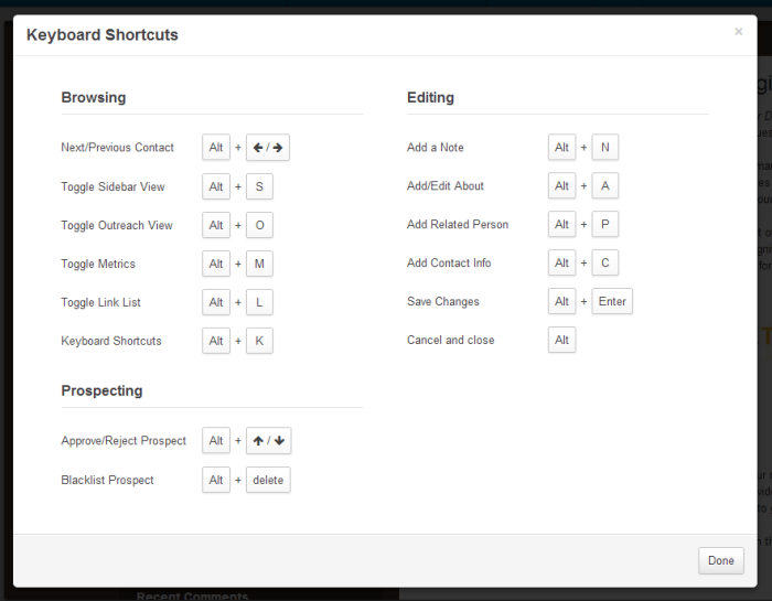 Keyboard Shortcuts in the BuzzBar: Qualify & Research Even