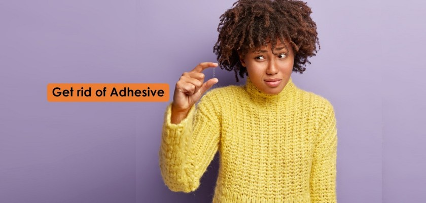 get rid of adhesive, remove glue from fingers