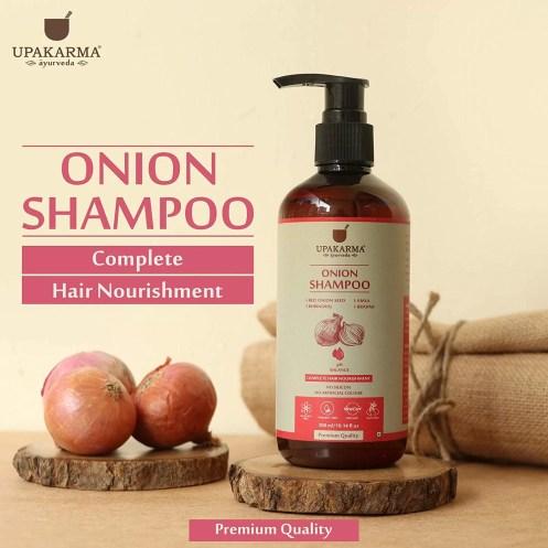 UPAKARMA Black Seed Onion Hair Oil 200ml and Red Onion Shampoo