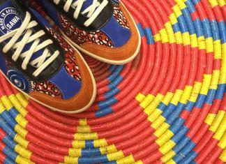 chaussure tissu africain