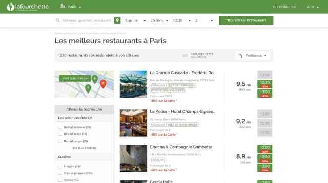 trouver un bon restaurant à proximité
