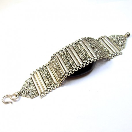 bracelet indien en argent