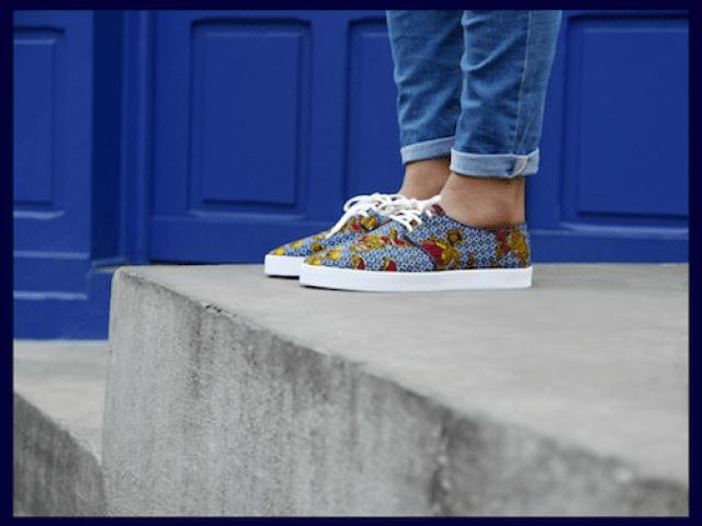 chaussure en tissu wax