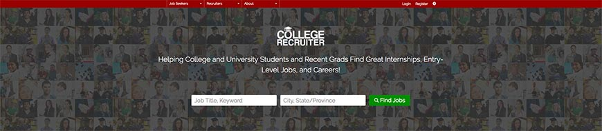 Sitio web freelance de collegerecruiter