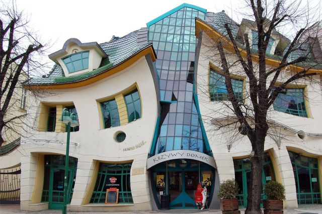 Crooked House in Sopot, Poland-General view of the house tourism destinations