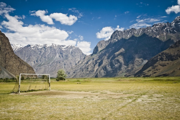 Football Pitch in the Himalayas