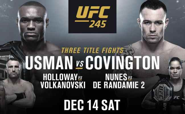 Ufc 245 Live Stream How To Watch Usman Vs Covington From