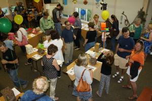 The nature center during the annual birdhouse auction.