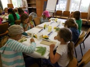 Summer Camp 2016 leaf art