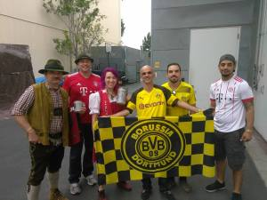 With some Bayern Fans
