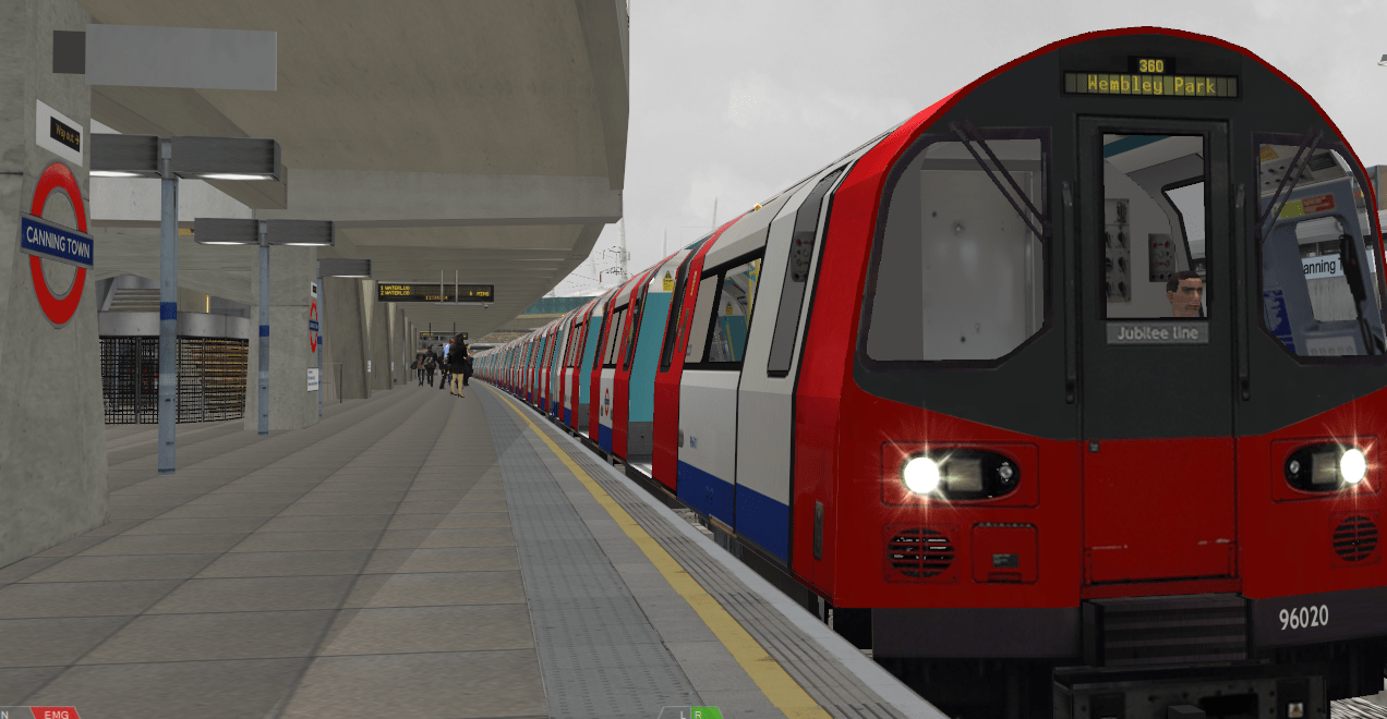 Arriving at Canning Town