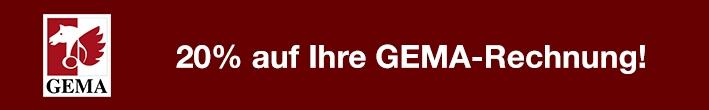 GEMA Beitrag Header 20% sparen
